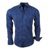 Ferlucci Heren overhemd calabria stretch blauw