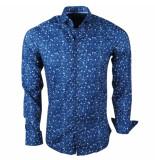 Ferlucci Heren overhemd calabria stretch bubble blauw
