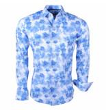 Ferlucci Heren overhemd calabria stretch delfs blauw