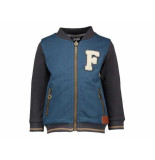 Like Flo Sweatvest baseball f antracite zwart
