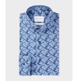 Michaelis Bloemen shirt van (extra lange mouwen) blauw