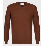 Michaelis Roest pullover met structuur bruin