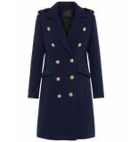 Y.A.S Coat wol 26015384 yasgoldian blauw