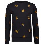 Kultivate Pullover sw winter leaf zwart