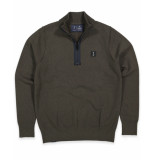 Butcher of Blue Pullover 1926002 clifden half zi groen