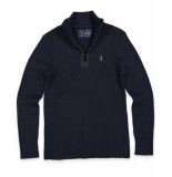 Butcher of Blue Pullover 1926008 know half zip blauw
