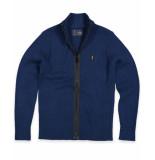 Butcher of Blue Vest 1926007 knox cardigan blauw