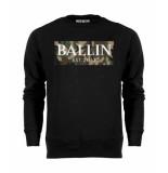 Ballin Est. 2013 Camo army sweater zwart