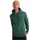 Superdry Sweat shirt shop embossed hood buck groen