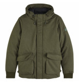 Scotch & Soda hooded jacket groen