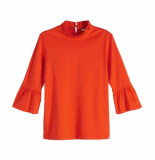 Maison Scotch sleeve top rood