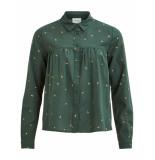VILA Vilunas l/s shirt groen