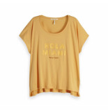 Maison Scotch Oversized fit tee geel