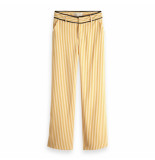 Maison Scotch Tailored wide leg pants geel