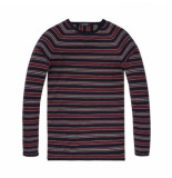 Scotch & Soda Striped cotton blauw