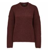 Selected Femme Regina ls knit o-neck rood