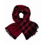 Maison Scotch Double sided wool scarf rood
