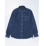 Denham Mono shirt blauw