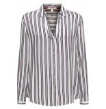 Esprit Overhemdblouse met strepenprint 099ee1f001 e110 wit