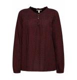 Esprit Crinkle blouse met patroon 099ee1f014 e620 roze