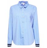 Esprit Blouse met contraterende boordjes 089ee1f008 e440 blauw