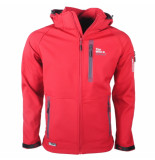 Wildstream Heren softshell jas rood