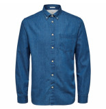 Selected Homme Selected perfect shirt mix blauw