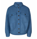 Co'Couture Coat 90033 rosalie wool sky blauw