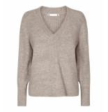Co'Couture Knit 92015 cassini v-neck 1 199 beige