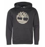 Timberland Tree logo hoodie zwart