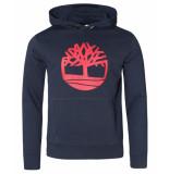 Timberland Tree logo hoodie blauw
