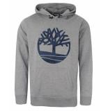 Timberland Tree logo hoodie grijs