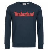 Timberland Linear logo sweat blauw