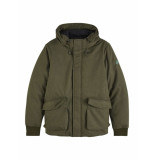 Scotch & Soda Short hooded jacket with inside quilted groen