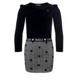 Little Looxs Combi jurkje voor meisjes in de kleur zwart