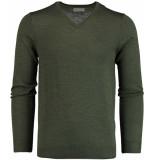 Bos Bright Blue Blue cas v-neck pullover flat knit 19305ca21bo/347 groen