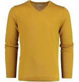 Bos Bright Blue Blue cas v-neck pullover flat knit 19305ca21bo/485 geel