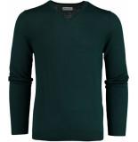 Bos Bright Blue Blue cas v-neck pullover flat knit 19305ca21bo/357 groen