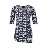Penn & Ink S19f508 508-08 ny jurk all over print indigo cotton