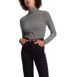 Levi's Longsleeve kol shirt striped zwart