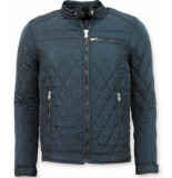 Enos Heren jas kort model blauw