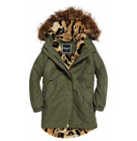 Superdry Lucy rookie parka groen