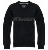 Superdry Universal tape crew black zwart