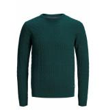 Jack & Jones Jprrichard knit crew neck 12155363 ponderosa pine groen