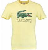 Lacoste T-shirt met borstlogo th38/xp geel