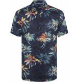 Tommy Hilfiger Hawaiian print shirt mw0mw10930/903 blauw