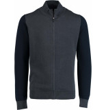 Commander Strickjacke two tone 214006631/612 blauw