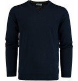 Bos Bright Blue Blue aron v-neck pullover flat kni 19305ar25bo/290 blauw