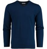 Bos Bright Blue Blue aron v-neck pullover flat kni 19305ar25bo/250 blauw