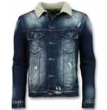 Wareen W Trucker heren jack blauw